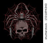 vector of spider with skull... | Shutterstock .eps vector #1531894343
