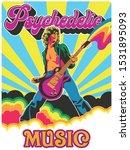 psychedelic art poster 1960s ... | Shutterstock .eps vector #1531895093