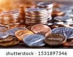 Pile Of Golden Coin  Silver...