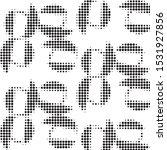 abstract grunge grid polka dot...   Shutterstock .eps vector #1531927856