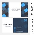 elegant geometric business card ...