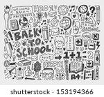 hand draw doodle school element | Shutterstock .eps vector #153194366
