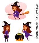 cute cartoon illustrations of a ...   Shutterstock .eps vector #153196160