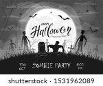 dark silhouette sticks out of...   Shutterstock . vector #1531962089