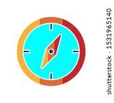compass icon design vector full ...