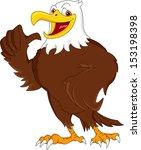 eagle cartoon thumb up   Shutterstock .eps vector #153198398