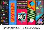 90s and 80s poster. nineties...   Shutterstock .eps vector #1531990529