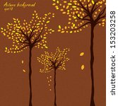 autumn background with trees... | Shutterstock .eps vector #153203258