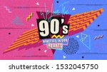 90s and 80s poster. we love the ... | Shutterstock .eps vector #1532045750