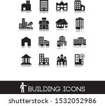 black set 2 of buildings icons. | Shutterstock .eps vector #1532052986