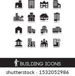 black set 2 of buildings icons.   Shutterstock .eps vector #1532052986