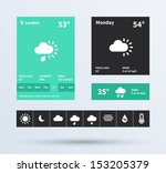 weather widget ui set of...