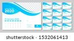 modern desk calendar 2020... | Shutterstock . vector #1532061413
