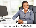 Smiling African Businesswoman...