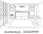 modern interior bedroom hand... | Shutterstock .eps vector #153209999