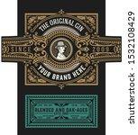 viintage label design. ornate... | Shutterstock .eps vector #1532108429