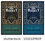 whiskey label vintage design... | Shutterstock .eps vector #1532109839
