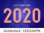 happy new year 2020 banner... | Shutterstock .eps vector #1532126996