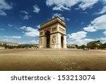 arc de triumph  paris  | Shutterstock . vector #153213074