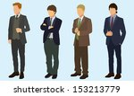 teen boys wearing suits | Shutterstock .eps vector #153213779