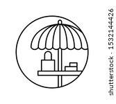 umbrella  table icon. simple...