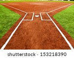 view from behind home plate... | Shutterstock . vector #153218390