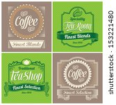 vintage labels  ribbons and... | Shutterstock .eps vector #153221480