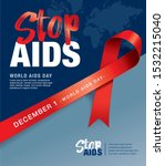 december 1st  world aids day... | Shutterstock .eps vector #1532215040
