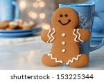 Smiling Gingerbread Man...