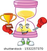 boxing winner sandglass... | Shutterstock .eps vector #1532257370