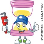 plumber sandglass isolated with ... | Shutterstock .eps vector #1532257400
