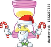 santa with candy sandglass... | Shutterstock .eps vector #1532257856