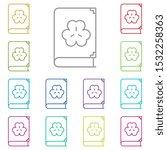 book  shamrock multi color icon....