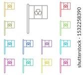 flag  shamrock multi color icon....