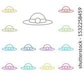 glyph multi color icon. simple...