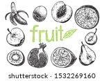 different fruits  banana  apple ...   Shutterstock .eps vector #1532269160