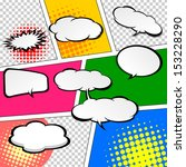 comic speech bubbles vector... | Shutterstock .eps vector #153228290