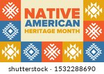 native american heritage month... | Shutterstock .eps vector #1532288690