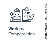 worker and check list  medical... | Shutterstock .eps vector #1532291249