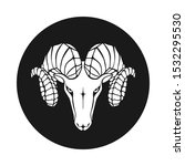aries graphic icon. ram head... | Shutterstock .eps vector #1532295530