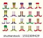leprechaun feet flat cartoon... | Shutterstock .eps vector #1532309429