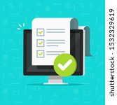 survey checklist form or... | Shutterstock . vector #1532329619