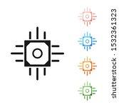 black processor icon isolated... | Shutterstock .eps vector #1532361323