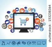 vector online shopping concept  ... | Shutterstock .eps vector #153238364