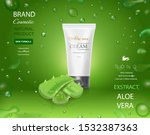 aloe vera cosmetic template ... | Shutterstock .eps vector #1532387363