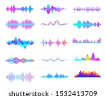 Colorful Sound Waves. Audio...