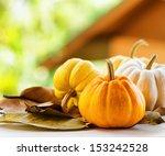 Pumpkins On Rural Landscape...