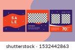 set of editable square banner... | Shutterstock .eps vector #1532442863