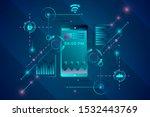 vector phone technology concept ...   Shutterstock .eps vector #1532443769