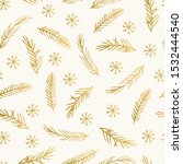 golden christmas pattern with... | Shutterstock .eps vector #1532444540